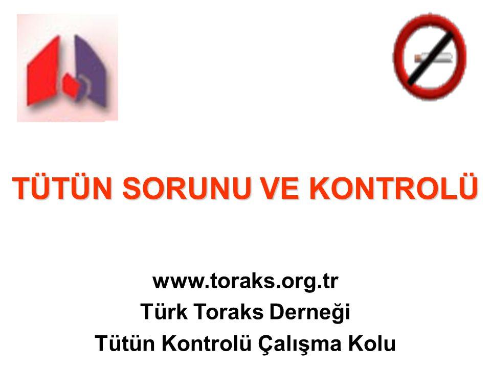 TÜTÜN SORUNU VE KONTROLÜ www.toraks.org.tr Türk Toraks Derneği Tütün Kontrolü Çalışma Kolu