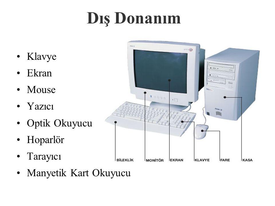 Diğer İ ç Donanım Birimleri Anakart : Bilgisayarın elektronik parçalarının tümünün takıldığı, bağlandığı elektronik devredir.