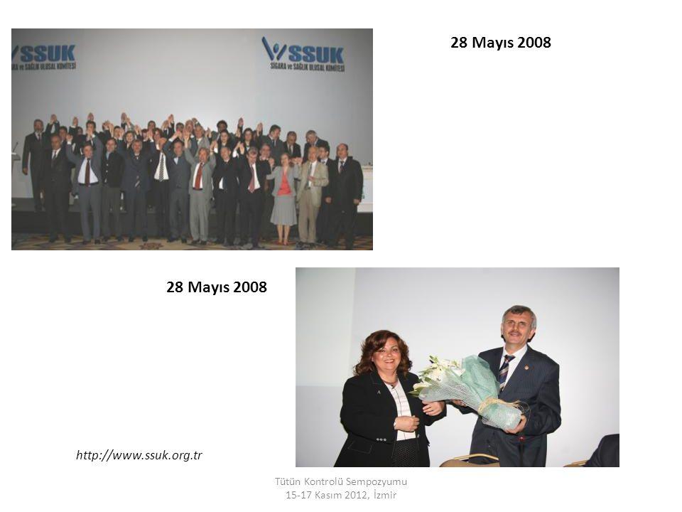 28 Mayıs 2008 Tütün Kontrolü Sempozyumu 15-17 Kasım 2012, İzmir http://www.ssuk.org.tr