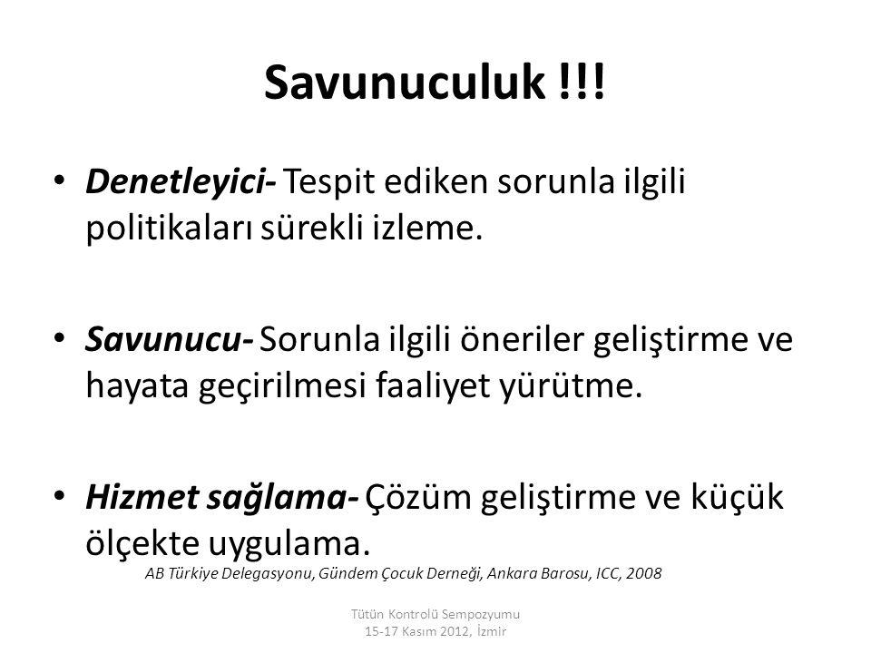 Tütün Kontrolü Sempozyumu 15-17 Kasım 2012, İzmir SED haberleşme ağı...