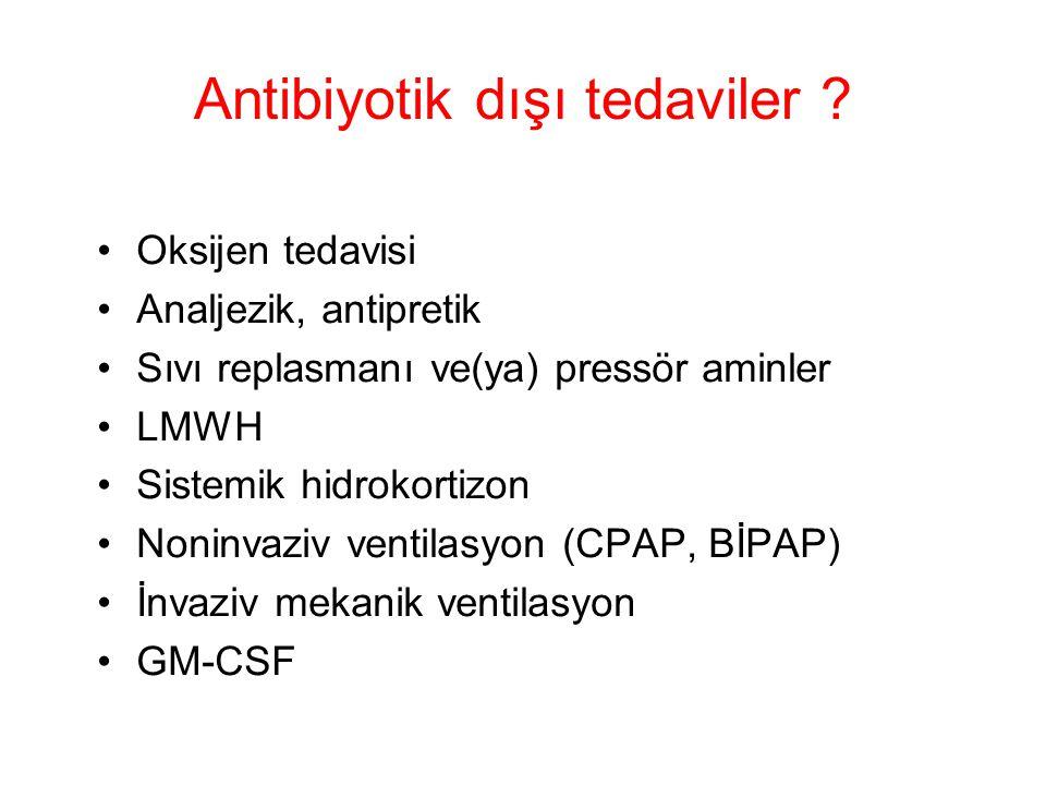 Antibiyotik dışı tedaviler .