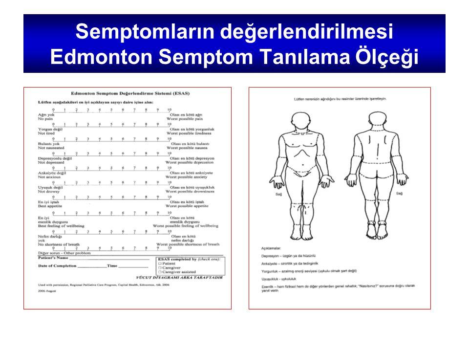 Semptomların değerlendirilmesi Edmonton Semptom Tanılama Ölçeği