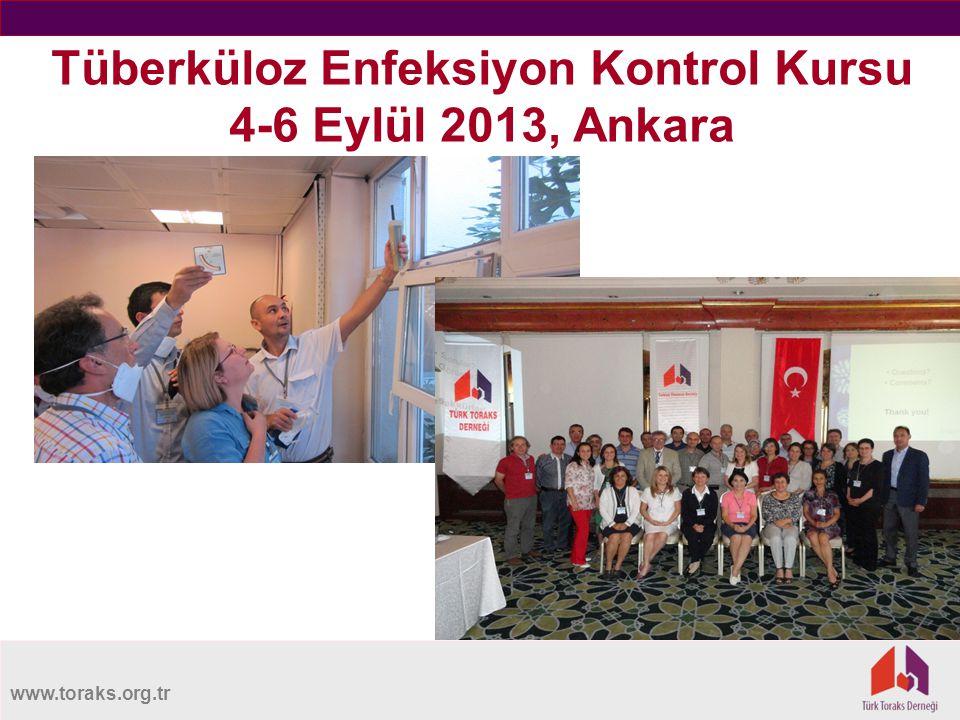 www.toraks.org.tr Tüberküloz Enfeksiyon Kontrol Kursu 4-6 Eylül 2013, Ankara