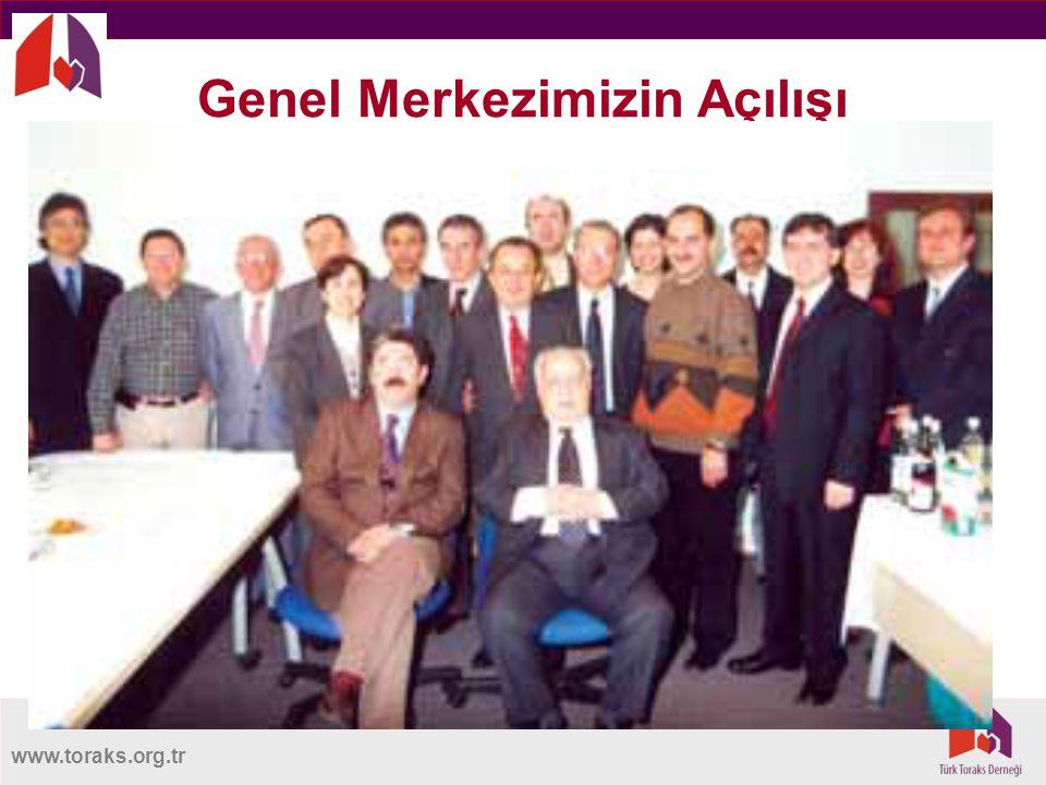 www.toraks.org.tr Türk Toraks Derneği Merkez Yürütme Kurulu Sedat Altın Genel Başkan Feyza Erkan Önceki Başkan Arzu Yorgancıoğlu Gelecek Başkan Elif S.