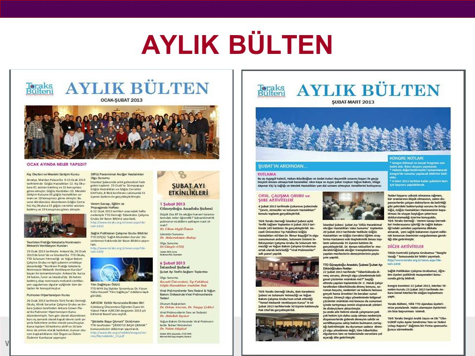 www.toraks.org.tr AYLIK BÜLTEN