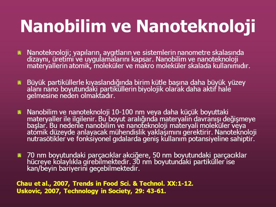 Nanobilim ve Nanoteknoloji Nanoteknoloji; yapıların, aygıtların ve sistemlerin nanometre skalasında dizaynı, üretimi ve uygulamalarını kapsar. Nanobil