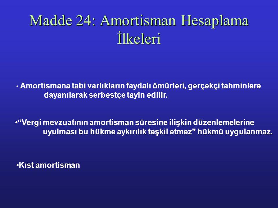 Madde 23: Vadeli Alım - Satımlar - Yüksek enflasyon dönemlerinde, Türk Lirası üzerinden vadeli olarak alınan veya satılan varlıkların fiyatı, enflasyo