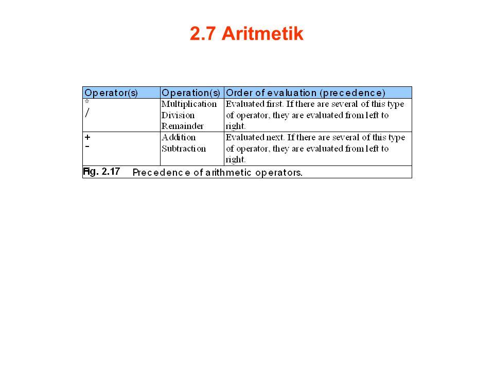 2.7 Aritmetik