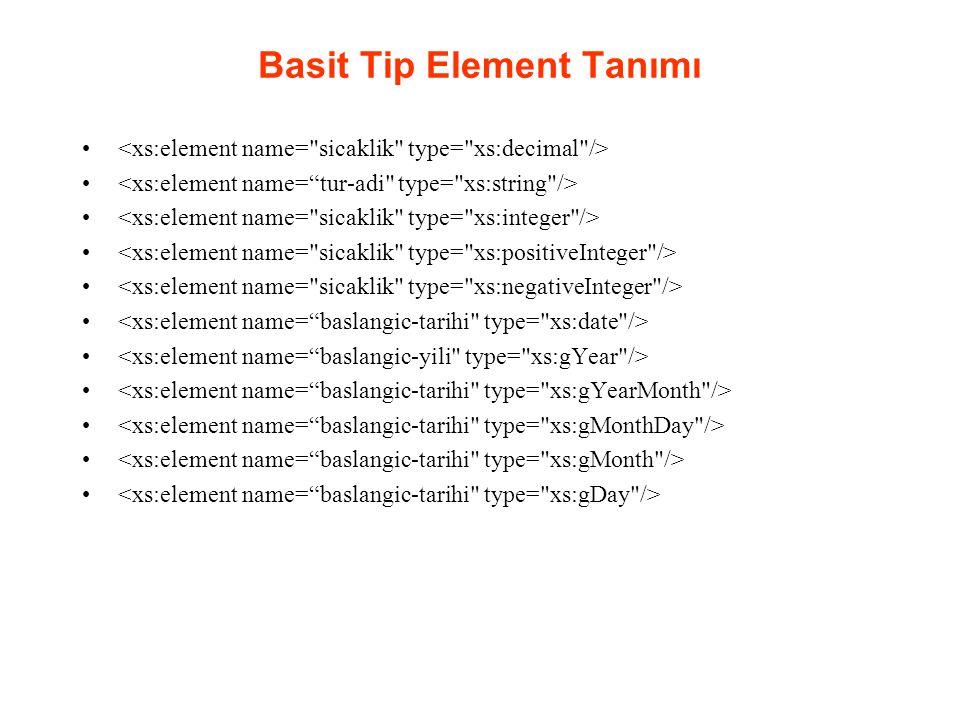 Basit Tip Element Tanımı