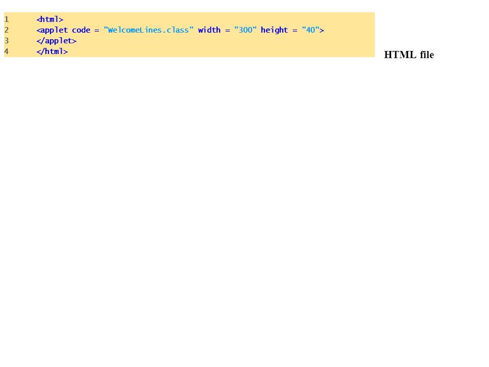 HTML file 1 2 3 4