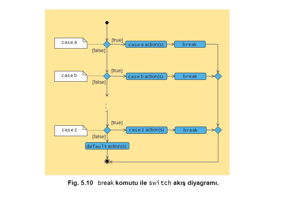 Fig.5.10 break komutu ile switch akış diyagramı.