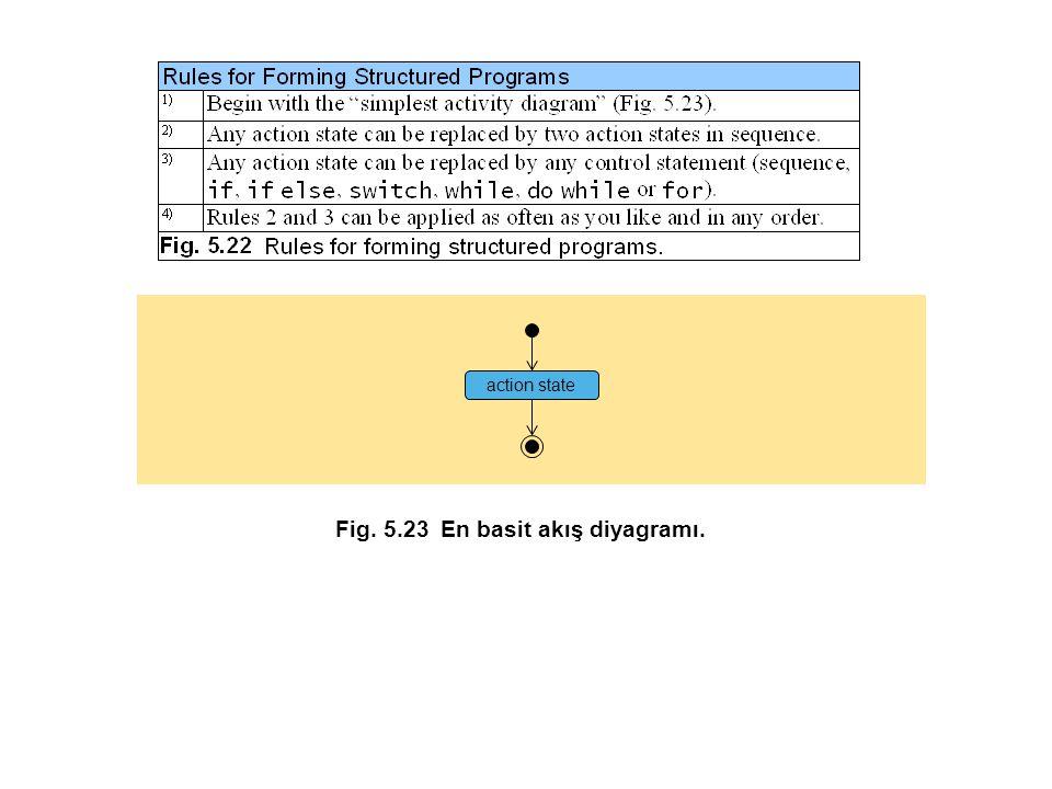 action state Fig. 5.23En basit akış diyagramı.