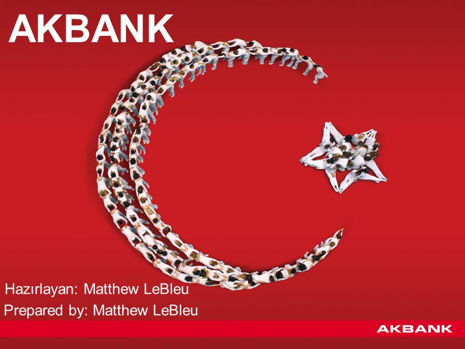 Tarihçe (The history of Akbank) Akbank, 1948 yılının Ocak ayında Adana'da, bölgedeki pamuk üreticilerine finansman sağlamak amacıyla kurulmuştur.
