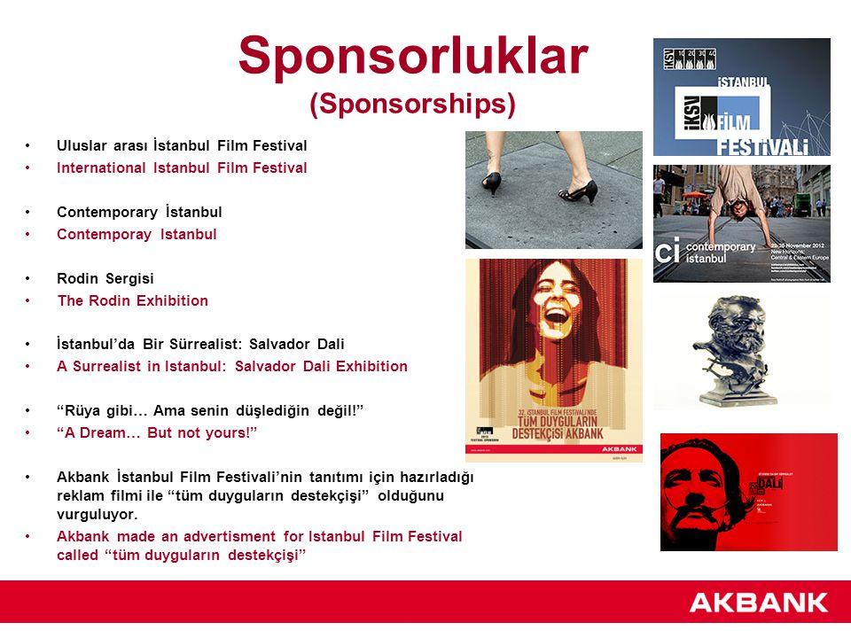 Sponsorluklar (Sponsorships) Uluslar arası İstanbul Film Festival International Istanbul Film Festival Contemporary İstanbul Contemporay Istanbul Rodi