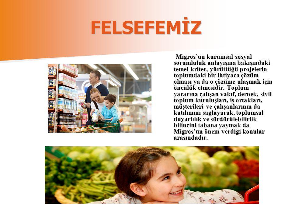 FELSEFEMİZ Migros'un kurumsal sosyal sorumluluk anlayışına bakışındaki temel kriter, yürüttüğü projelerin toplumdaki bir ihtiyaca çözüm olması ya da o