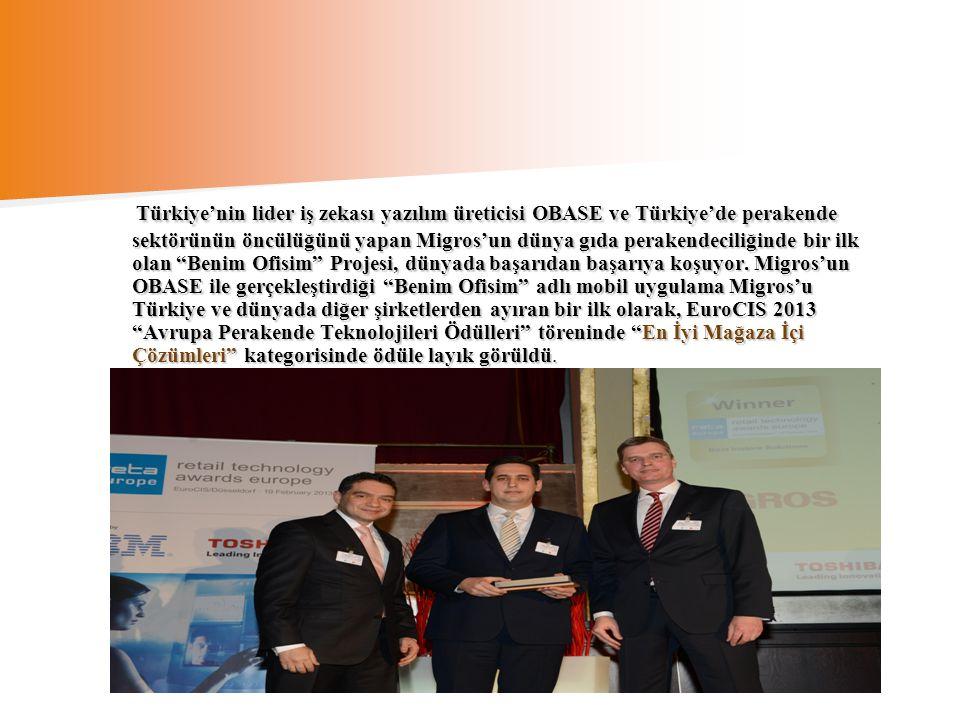 Türkiye'nin lider iş zekası yazılım üreticisi OBASE ve Türkiye'de perakende sektörünün öncülüğünü yapan Migros'un dünya gıda perakendeciliğinde bir il