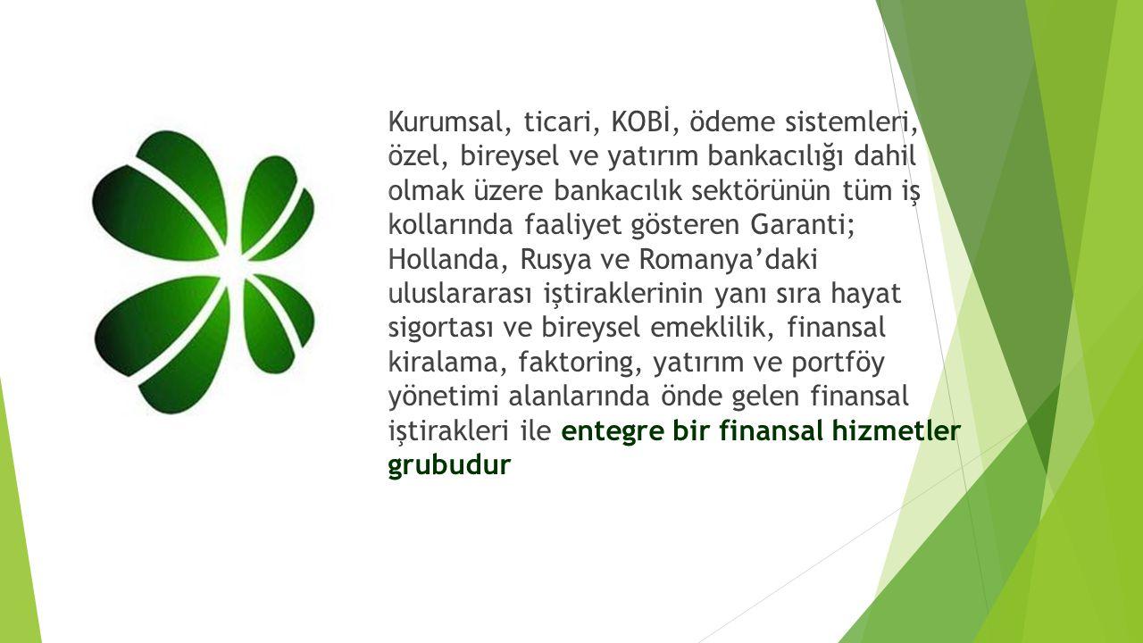  Kurumsal, ticari, KOBİ, ödeme sistemleri, özel, bireysel ve yatırım bankacılığı dahil olmak üzere bankacılık sektörünün tüm iş kollarında faaliyet g