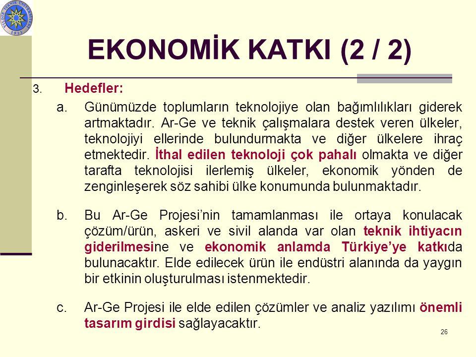 26 EKONOMİK KATKI (2 / 2) 3.