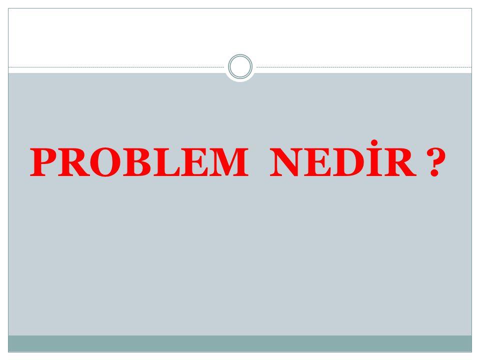 PROBLEM NEDİR ?