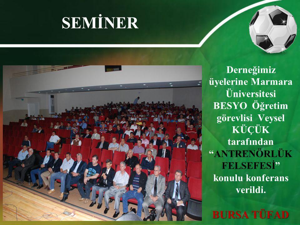 """SEMİNER Derneğimiz üyelerine Marmara Üniversitesi BESYO Öğretim görevlisi Veysel KÜÇÜK tarafından """"ANTRENÖRLÜK FELSEFESİ"""" konulu konferans verildi. BU"""