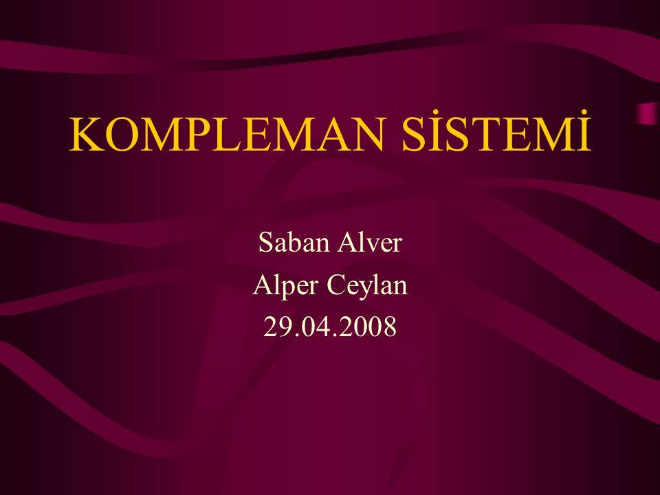 SUNUM İÇERİĞİ Tanım, tarihçe İsimlendirme Elektroforezde kompleman Kompleman proteinlerinin özellikleri Kompleman sisteminin aktivatörleri Kompleman kaskatı Kompleman sisteminin düzenlenmesi Bağışıklık sisteminde komplemanın yeri Yenidoğanda kompleman Kompleman sisteminin görevi Kompleman sistemi yetersizlikleri Kompleman sisteminin laboratuvar değerlendirilmesi