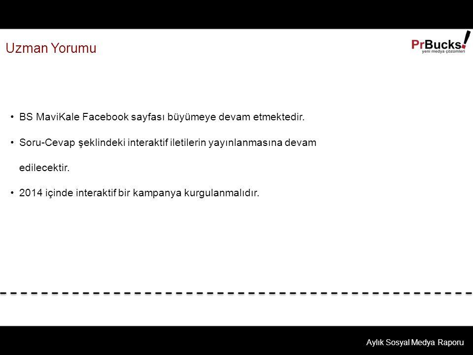 Uzman Yorumu Aylık Sosyal Medya Raporu BS MaviKale Facebook sayfası büyümeye devam etmektedir.