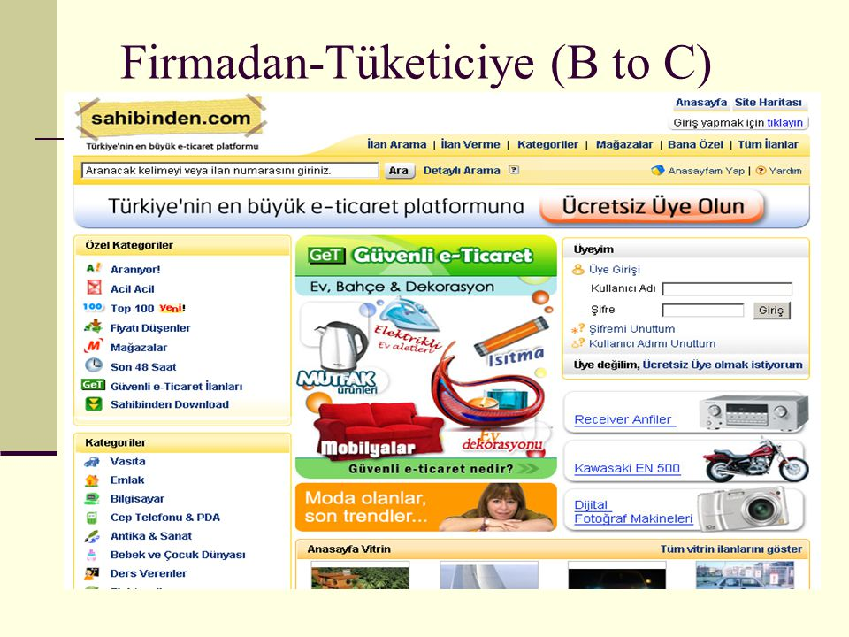 Firmadan-Tüketiciye (B to C)