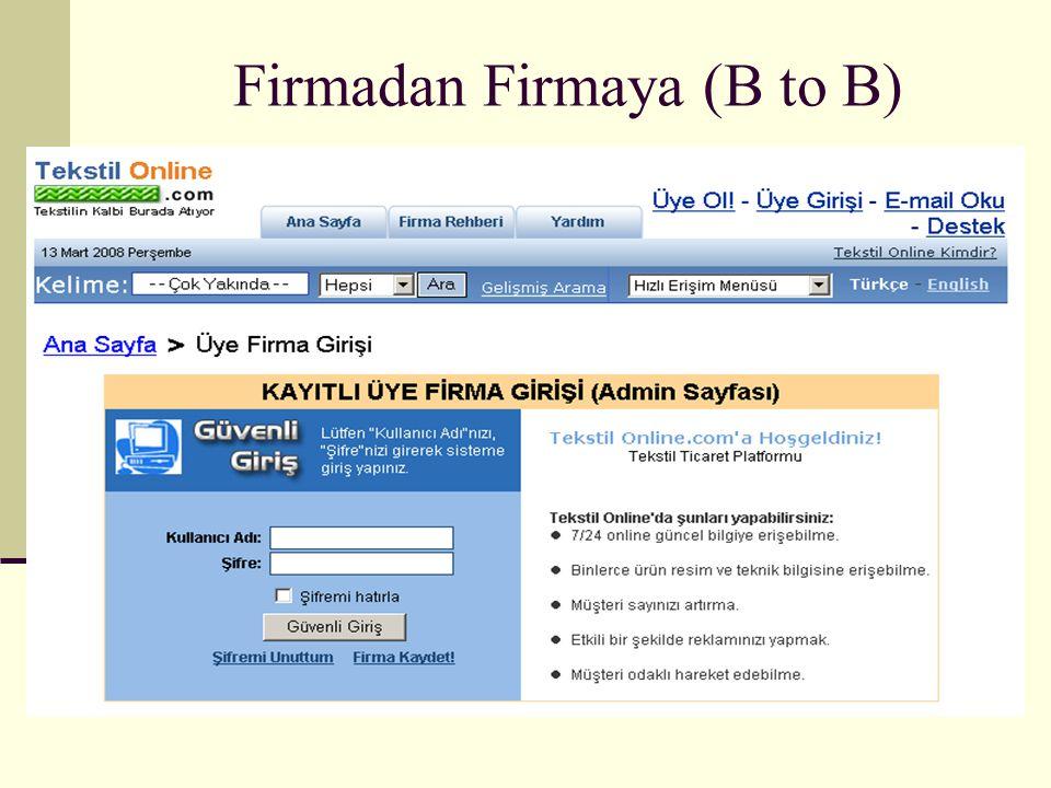 Firmadan Firmaya (B to B)