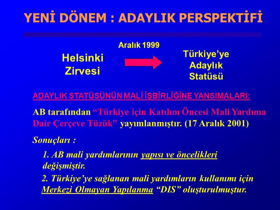 """ADAYLIK STATÜSÜNÜN MALİ İŞBİRLİĞİNE YANSIMALARI: AB tarafından """"Türkiye için Katılım Öncesi Mali Yardıma Dair Çerçeve Tüzük"""" yayımlanmıştır. (17 Aralı"""