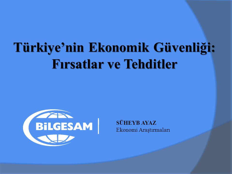 Türkiye'nin Ekonomik Güvenliği: Fırsatlar ve Tehditler SÜHEYB AYAZ Ekonomi Araştırmaları