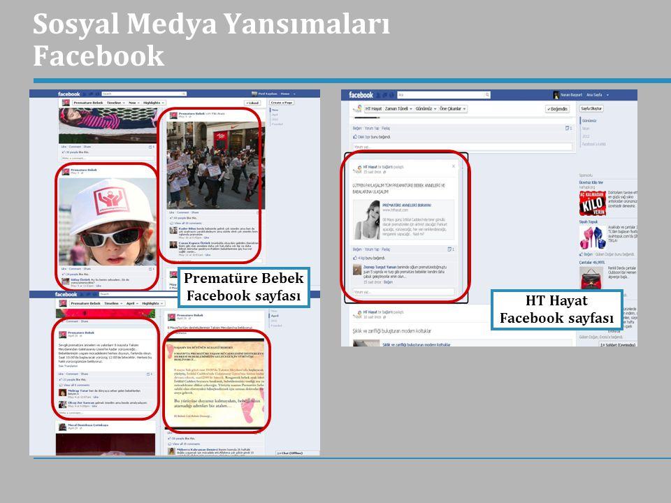 Sosyal Medya Yansımaları Facebook Prematüre Bebek Facebook sayfası HT Hayat Facebook sayfası