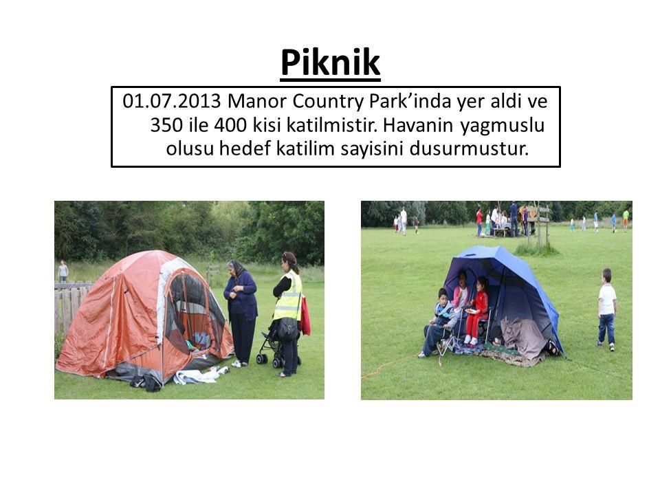 Piknik 01.07.2013 Manor Country Park'inda yer aldi ve 350 ile 400 kisi katilmistir.