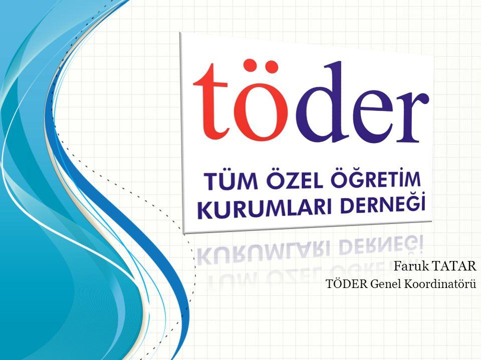 TÖDER Derneğimiz, Türkiye'de özel öğretim sektörüne bağlı; özel okul, dershaneler, vakıf üniversiteleri ve özel kursları bünyesinde barındıran ulusal ve uluslararası bir sivil toplum örgütüdür.
