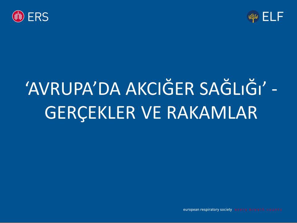 'AVRUPA'DA AKCIĞER SAĞLıĞı' - GERÇEKLER VE RAKAMLAR