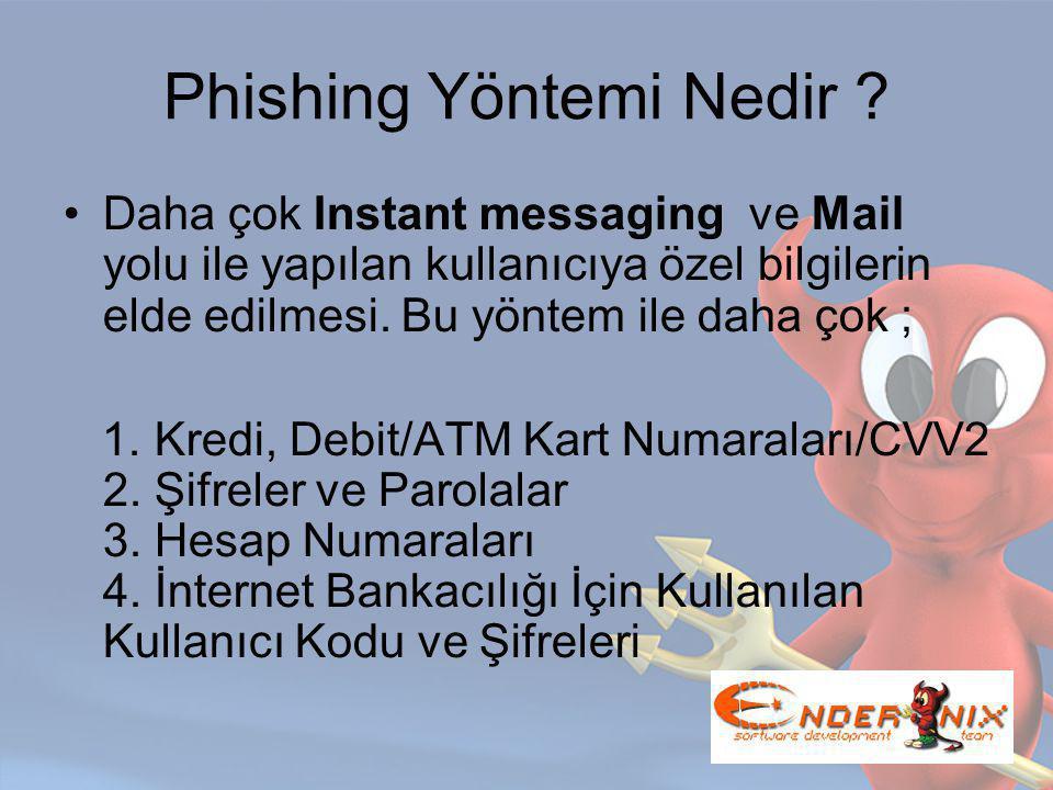 Phishing Yöntemi Nedir .