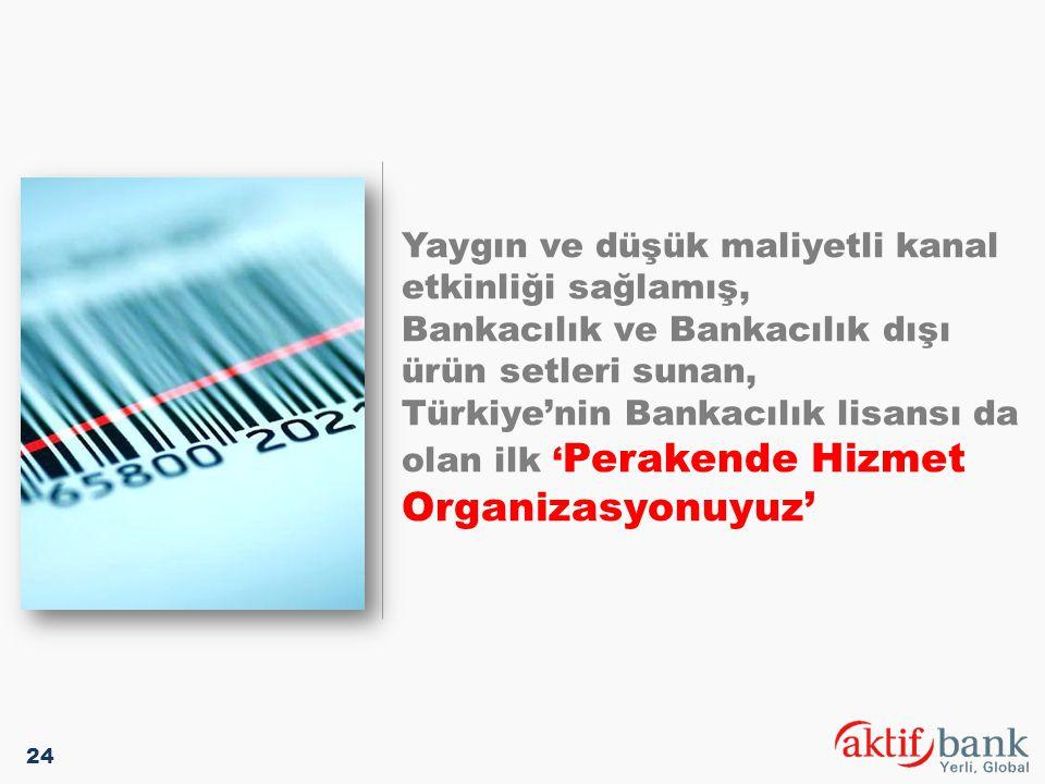 Yaygın ve düşük maliyetli kanal etkinliği sağlamış, Bankacılık ve Bankacılık dışı ürün setleri sunan, Türkiye'nin Bankacılık lisansı da olan ilk ' Per