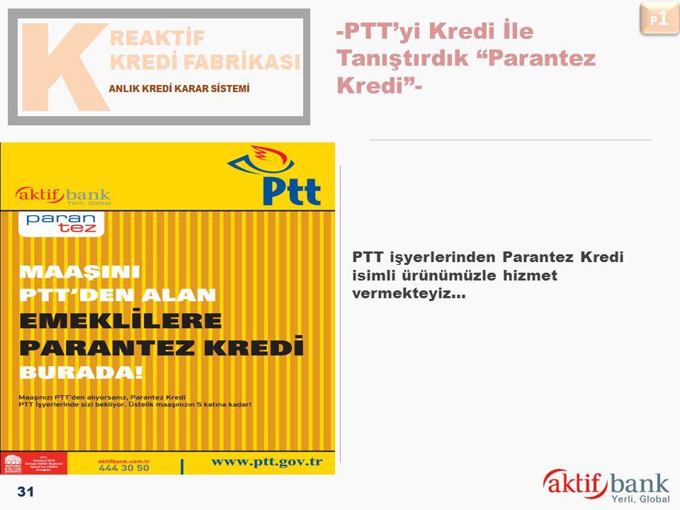 """pLATFORMLARIMIZ PTT işyerlerinden Parantez Kredi isimli ürünümüzle hizmet vermekteyiz... -PTT'yi Kredi İle Tanıştırdık """"Parantez Kredi""""- P1P1 P1P1 31"""