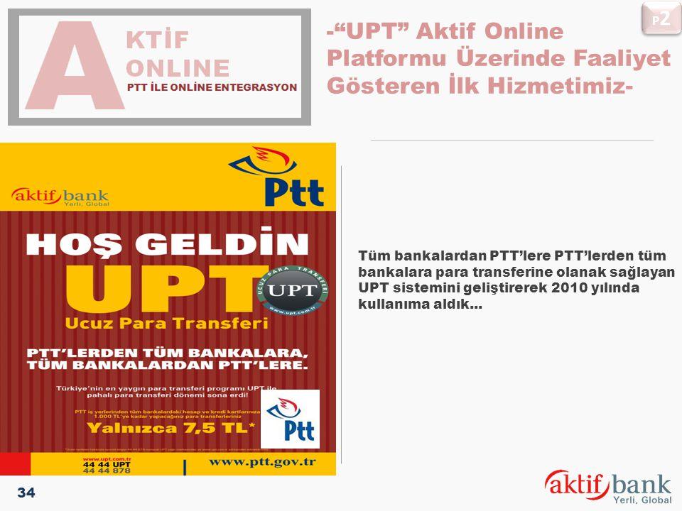 Tüm bankalardan PTT'lere PTT'lerden tüm bankalara para transferine olanak sağlayan UPT sistemini geliştirerek 2010 yılında kullanıma aldık... pLATFORM