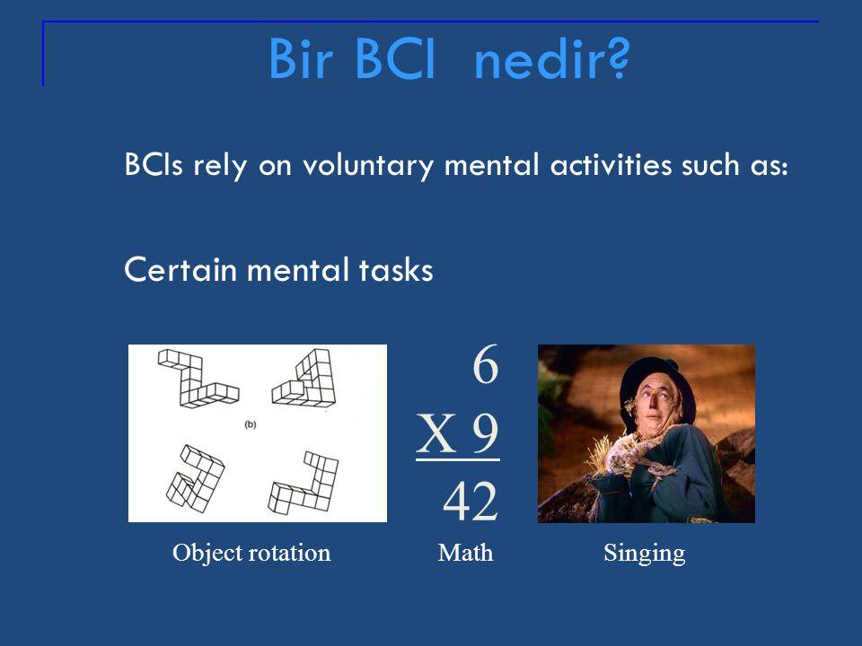 BCIs cannot read minds or literally interpret mental activity. hello yes pain Bir BCI ne de ğ ildir?