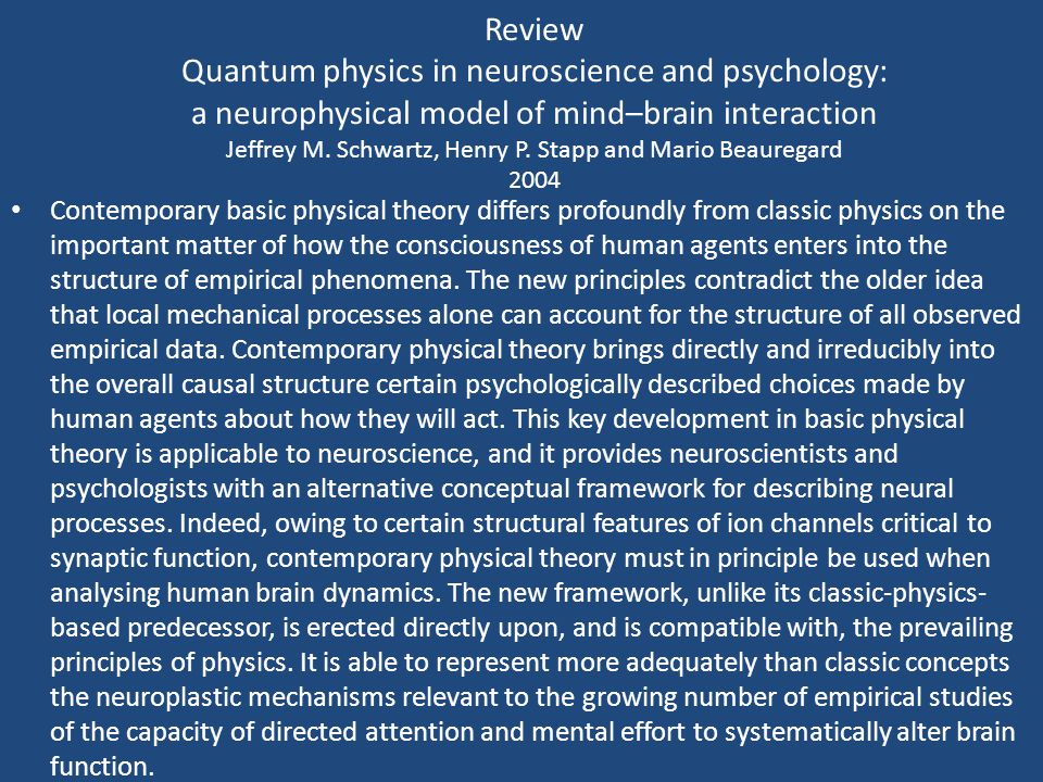 QUANTUM REALITY AND MIND Henry P. Stapp Lawrence Berkeley Laboratory University of California, Berkeley, California 94720 2009 ABSTRACT Two fundamenta
