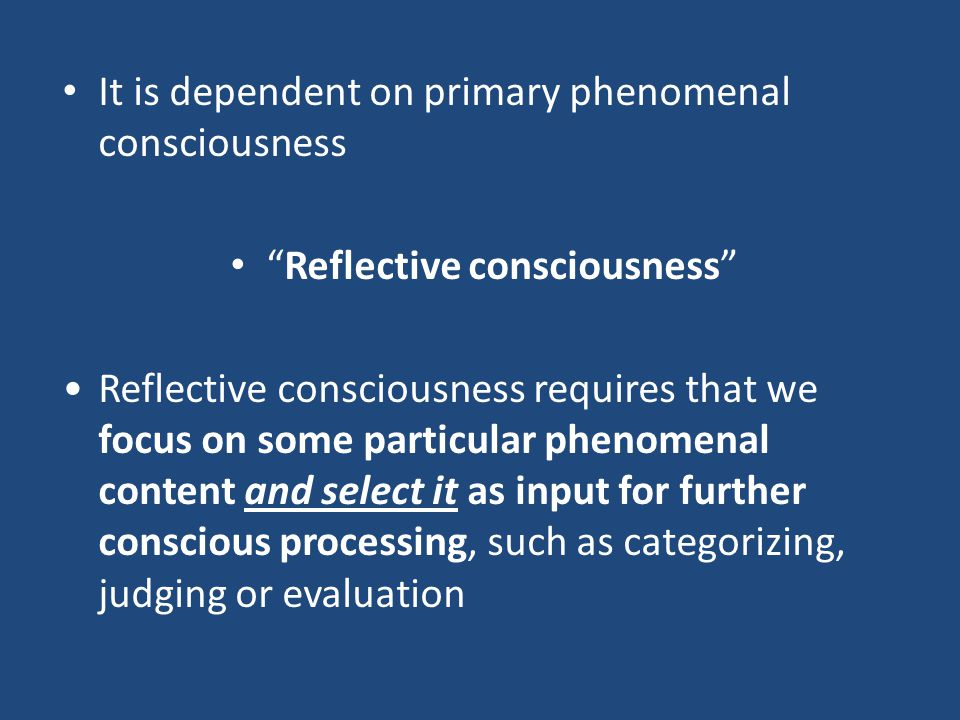 "There are (at least) two different ways to understand the notion of ""consciousness"" (in association with ""altered state of consciousness""). The first"