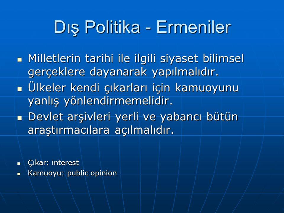Dış Politika – Avrupa Birliği Türkiye'nin Avrupa Birliği'ne üyelikteki uyum süreci zorlu geçmekte ve her alanda yeni düzenlemeler yapılmaktadır.