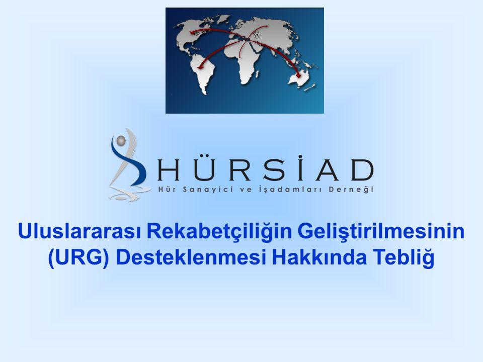 Uluslararası Rekabetçiliğin Geliştirilmesinin (URG) Desteklenmesi Hakkında Tebliğ