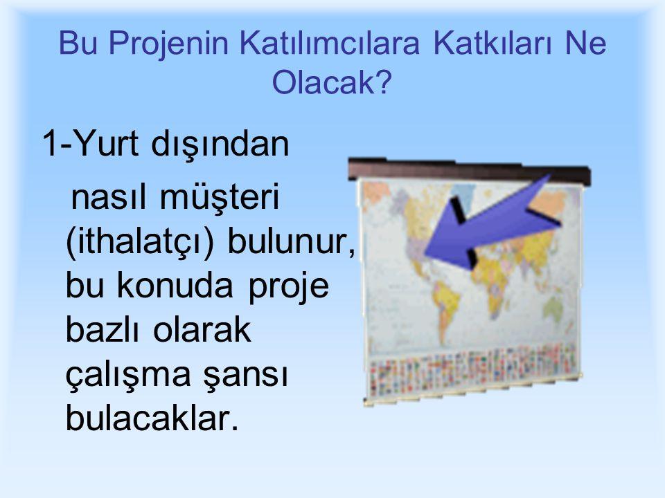 Bu Projenin Katılımcılara Katkıları Ne Olacak.