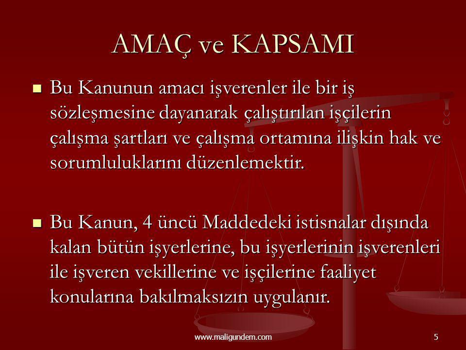 www.maligundem.com46 İŞVERENİN BİLDİRİMSİZ FESİH HAKKI (M.25) I.