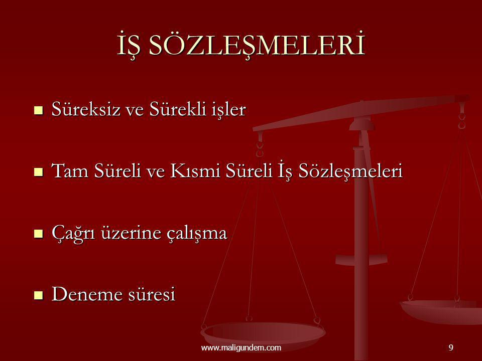 www.maligundem.com50 İŞVERENİN BİLDİRİMSİZ FESİH HAKKI (M.25) III.