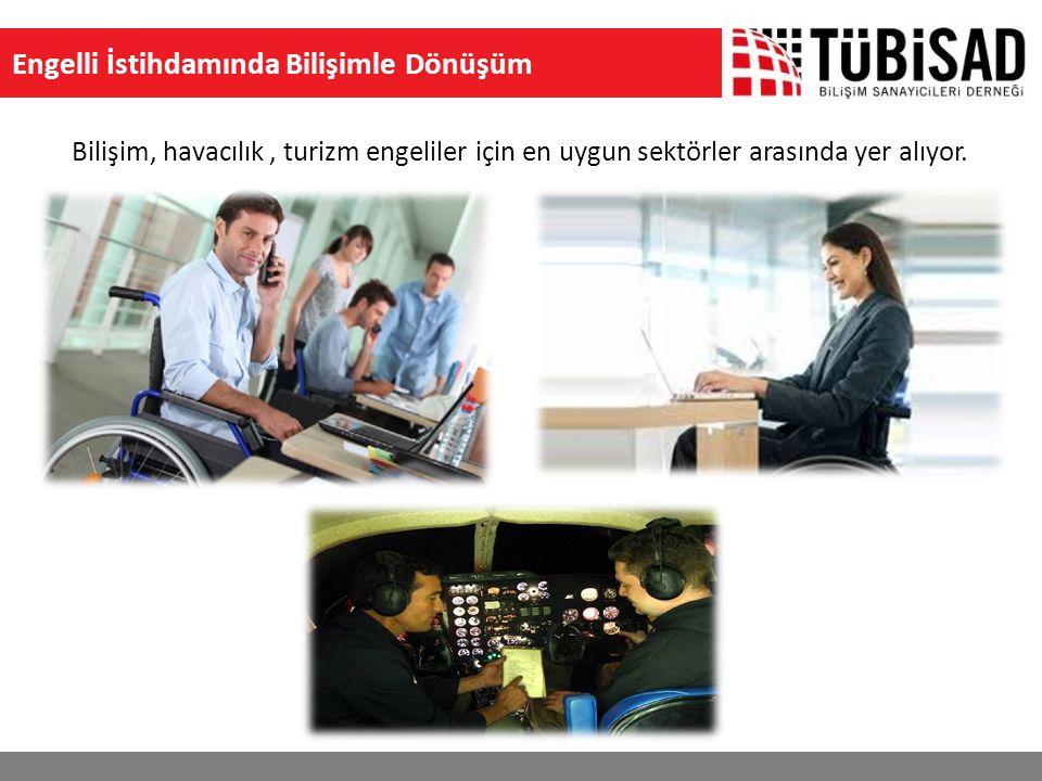 Engelli İstihdamında Bilişimle Dönüşüm Bilişim, havacılık, turizm engeliler için en uygun sektörler arasında yer alıyor.