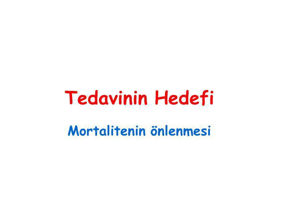 Tedavinin Hedefi Mortalitenin önlenmesi