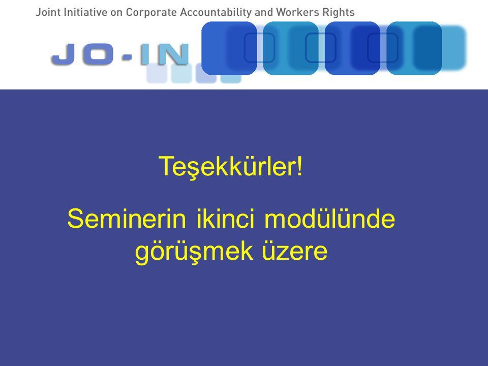 www. Teşekkürler! Seminerin ikinci modülünde görüşmek üzere.jo-in.org
