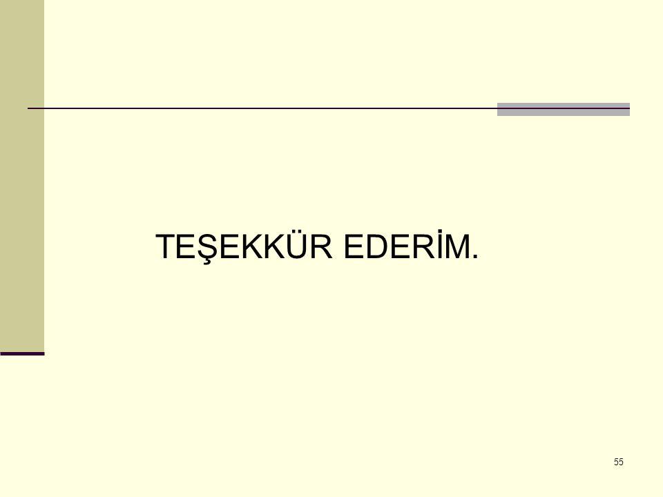 55 TEŞEKKÜR EDERİM.